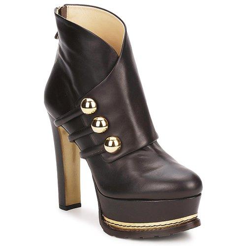 Cómodo y bien parecido Zapatos especiales Moschino MA2104 Dark / Brown