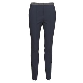 textil Mujer Pantalones con 5 bolsillos Karl Lagerfeld PUNTO PANTS W/ LOGO TAPE Marino / Negro