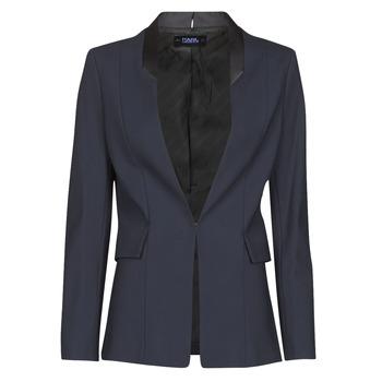 textil Mujer Chaquetas / Americana Karl Lagerfeld PUNTO JACKET W/ SATIN LAPEL Marino / Negro