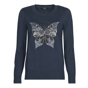 textil Mujer Jerséis Desigual BUTTERFLY Marino