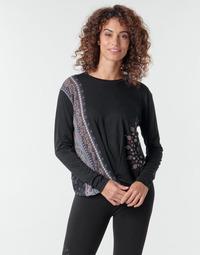 textil Mujer Camisetas manga larga Desigual MARSELLA Marino
