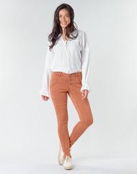 textil Mujer pantalones con 5 bolsillos Cream HOLLY CR TWILL Marrón