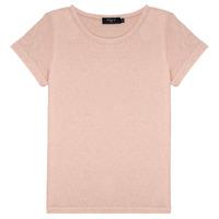 textil Niña Camisetas manga corta Deeluxe GLITTER Rosa