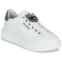 Zapatos Mujer Zapatillas bajas Karl Lagerfeld KAPRI IKONIC TWIN LO LACE Blanco / Ithr / Silver