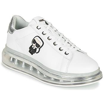 Zapatos Mujer Zapatillas bajas Karl Lagerfeld KAPRI KUSHION Karl Ikonic Lo Lace Blanco / Plata