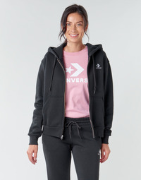 textil Mujer sudaderas Converse CONVERSE WOMENS FOUNDATION FULL ZIP HOODIE Negro