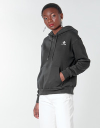 textil Mujer Sudaderas Converse CONVERSE WOMENS FOUNDATION PULLOVER HOODIE Negro