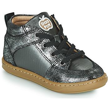 Zapatos Niña Zapatillas altas Shoo Pom BOUBA GANG Plata
