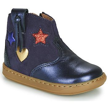 Zapatos Niña Zapatillas altas Shoo Pom BOUBA WEST Azul