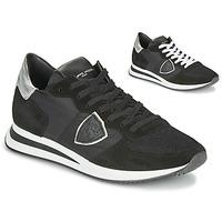 Zapatos Mujer Zapatillas bajas Philippe Model TROPEZ X BASIC Negro / Plateado
