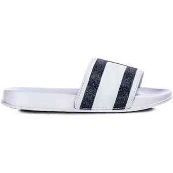 Zapatos Chanclas Tommy Hilfiger Kids FLAG PRINT POOL SLIDE Blanco