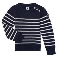 textil Niños Jerséis Petit Bateau LOX Marino / Blanco