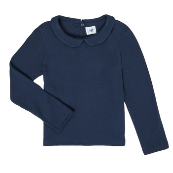 textil Niña Camisetas manga larga Petit Bateau LOVING Marino