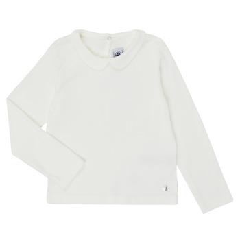 textil Niña Camisetas manga larga Petit Bateau LOVING Blanco