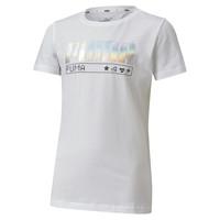 textil Niña Camisetas manga corta Puma ALPHA TEE Blanco