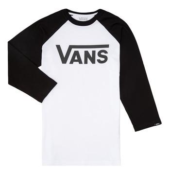 textil Niño Camisetas manga larga Vans VANS CLASSIC RAGLAN Negro / Blanco