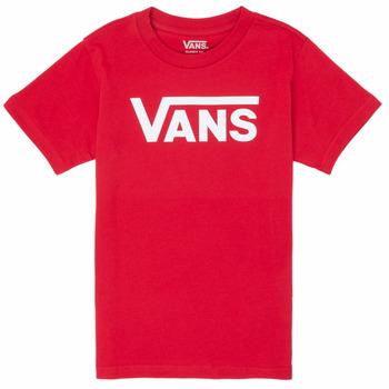 textil Niño Camisetas manga corta Vans BY VANS CLASSIC Rojo