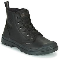 Zapatos Botas de caña baja Palladium PAMPA ZIP LTH ESS Negro
