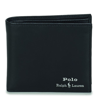 Bolsos Hombre Cartera Polo Ralph Lauren GLD FL BFC-WALLET-SMOOTH LEATHER Negro