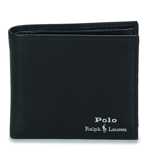 Bolsos Hombre Cartera Polo Ralph Lauren GLD FL BFC-WALLET-SMOOTH LEATHER Negro