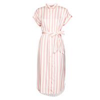 textil Mujer Vestidos largos Lauren Ralph Lauren CICERO Blanco / Rosa