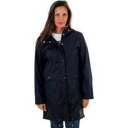 textil Mujer cazadoras Vero Moda 10222399 VMEVERYDAY 3/4 COATED JACKET GA NIGHT SKY Azul marino