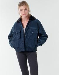 textil Mujer cazadoras Volcom ARMY CORD JACKET Azul