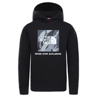 textil Niño Sudaderas The North Face NEW BOX CREW HODDIE Negro