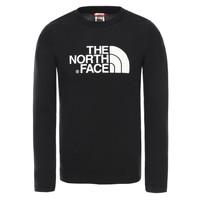 textil Niño Camisetas manga larga The North Face EASY TEE LS Negro