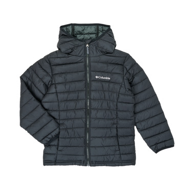 textil Niño Plumas Columbia POWDER LITE HOODED JACKET Negro