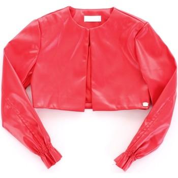 textil Niña Chaquetas de cuero / Polipiel Byblos Blu BJ14994 rojo