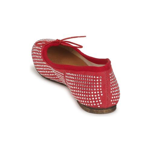 Mujer Balde Zapatos Meline Rojo manoletinas Bailarinas Rock CxoQdrBeWE