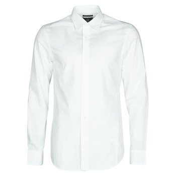 textil Hombre Camisas manga larga G-Star Raw DRESSED SUPER SLIM SHIRT LS Blanco