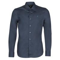 textil Hombre camisas manga larga G-Star Raw DRESSED SUPER SLIM SHIRT LS Azul
