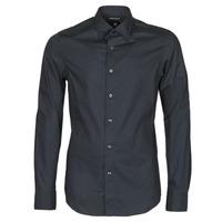 textil Hombre Camisas manga larga G-Star Raw DRESSED SUPER SLIM SHIRT LS Negro