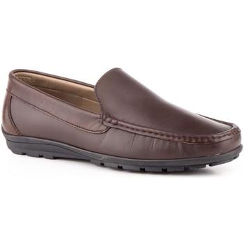 Zapatos Hombre Mocasín Iberico Shoes Mocasines de hombre de piel by Marron