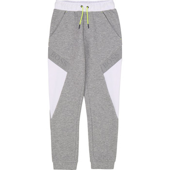 textil Niño Pantalones de chándal BOSS J24664 Gris