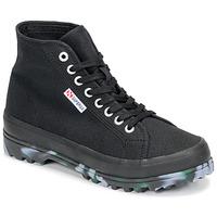 Zapatos Mujer Zapatillas altas Superga 2341 ALPINA MARBLEGUM Negro