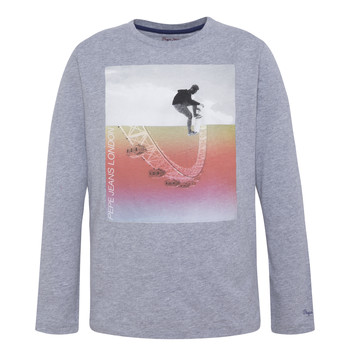 textil Niño Camisetas manga larga Pepe jeans EDGAR Gris