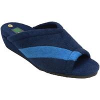 Zapatos Mujer Pantuflas Miszapatillas Chanclas toalla mujer abiertas punta y t azul