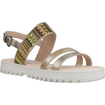 Zapatos Niña Sandalias Geox J SANDAL CORALIE GIR Oro