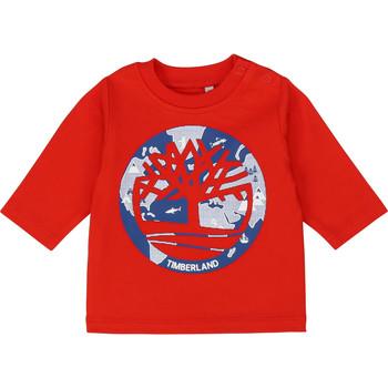 textil Niño Camisetas manga larga Timberland T95889 Rojo