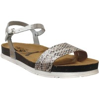 Zapatos Mujer Sandalias Plakton Garden Cuero gris metal