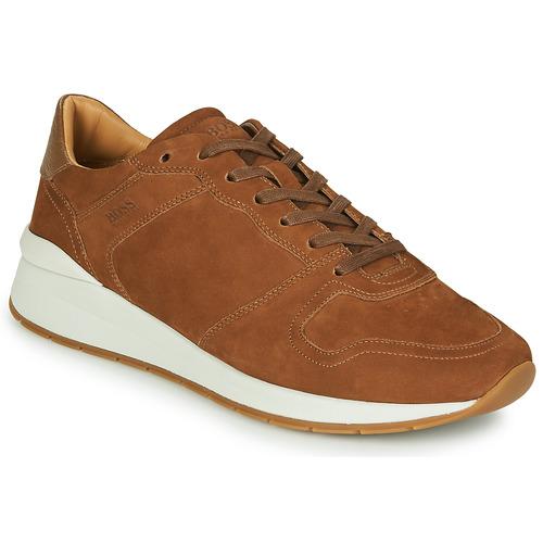 Zapatos Hombre Zapatillas bajas BOSS ELMNT RUNN NUSF Cognac