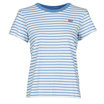 textil Mujer Camisetas manga corta Levi's PERFECT TEE Silphium / Colony / Azul