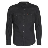 textil Hombre Camisas manga larga Levi's BARSTOW WESTERN STANDARD Negro