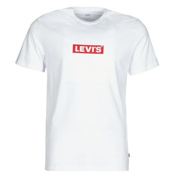 textil Hombre Camisetas manga corta Levi's BOXTAB GRAPHIC TEE Blanco