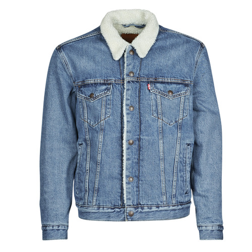textil Hombre Chaquetas denim Levi's TYPE 3 SHERPA TRUCKER Azul