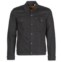 textil Hombre chaquetas denim Levi's THE TRUCKER JACKET Negro