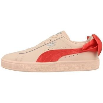 Zapatos Niños Zapatillas bajas Puma Basket Bow JR De color naranja